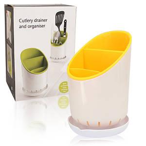Подставка сушилка для кухонных приборов органайзер Cutlery Drainer and Organiser 149797
