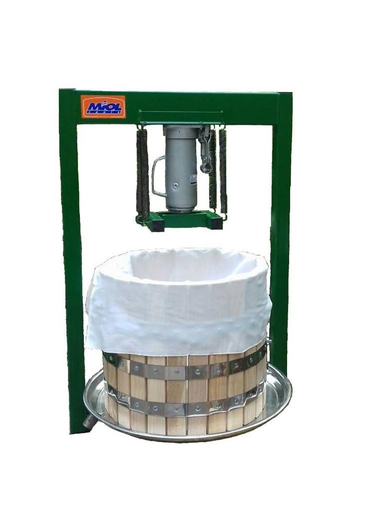 Пресс для сока 35 л с домкратом, давление 10 тон, гидравлический. Для яблок, винограда, сыра