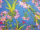 Штапель стрейчевый лилии, голубой, фото 2