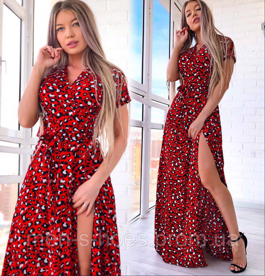 Красивое нежное женское платье на запах