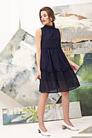Летнее платье из вышитого батиста 46314 (42–46р) в расцветках, фото 1