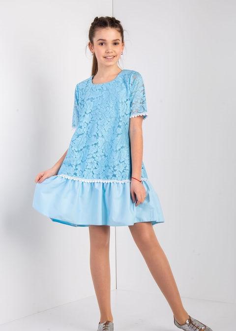 Детское нарядное платье для девочки Ника, размеры 134-152
