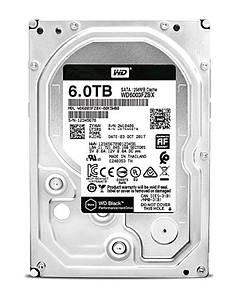 Накопитель HDD SATA 6.0TB WD Black 7200rpm 256MB (WD6003FZBX)