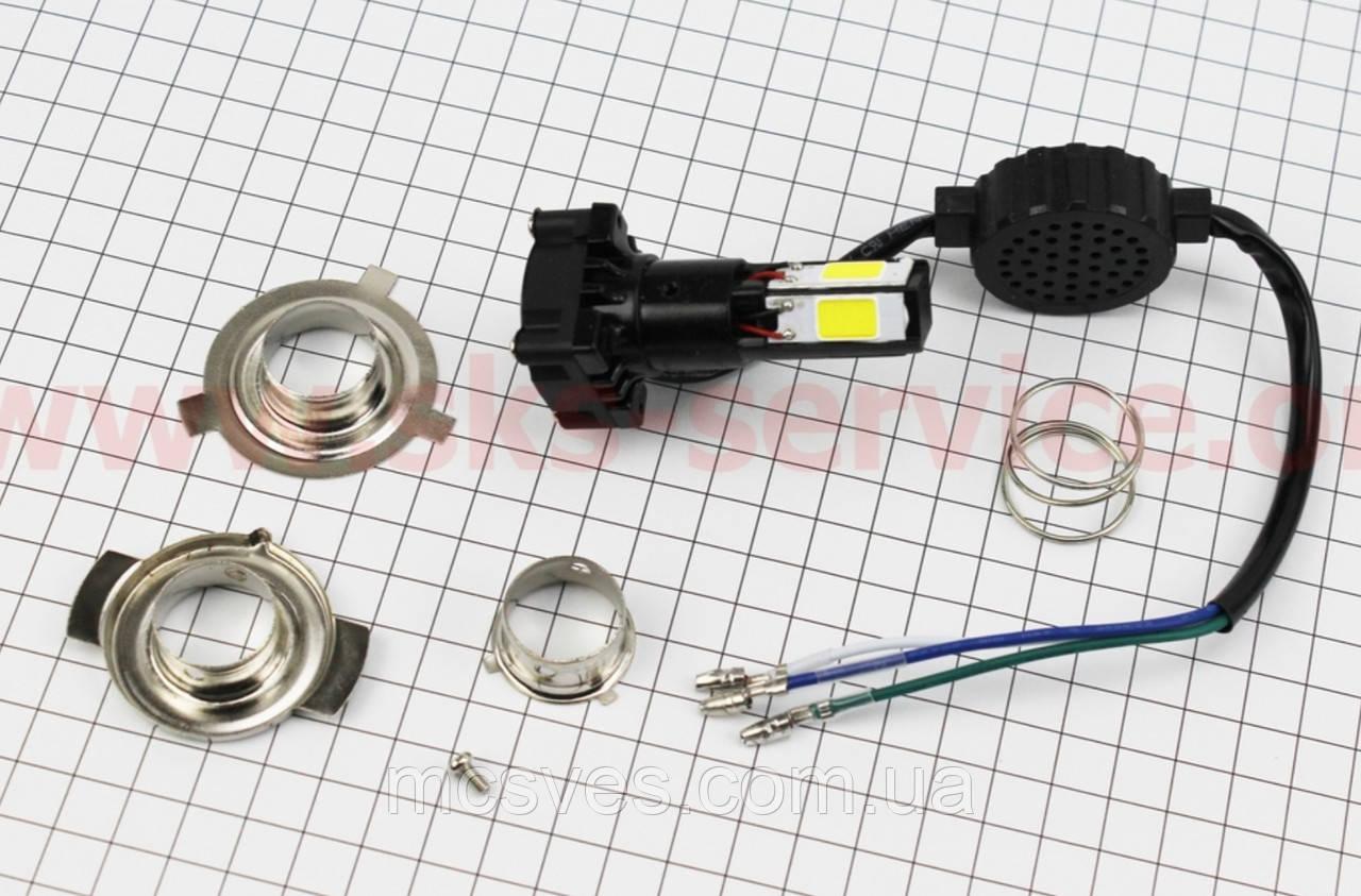 Лампа фары диодная LED-4 SUPER универсальная (к-кт разных креплений), с стабилизатором