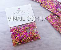 Конфетти для декора ногтей № 9002, фото 1