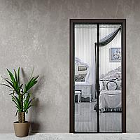 Антимоскітна сітка, шторка на двері на магнітах 210*100 Premium Чорний