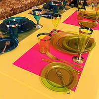 Тарелки стекловидные небьющиеся цветные CFP для яхт, катеров, пляжей, летних банкетов, дач, пасхи 6шт/уп 260мм