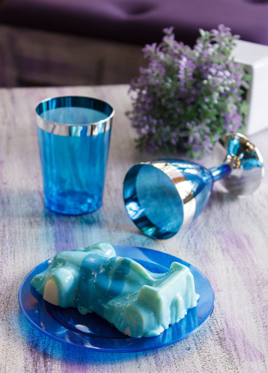 Тарелки стеклопластиковые плотные, многоразовые, небьющиеся, цветные для корпоративов, ивент  CFP 6 шт 155 мм
