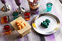 Тарелки десертные, стеклопластиковые, небьющиеся, цветные  для корпоротивов, event CFP 6 шт 155 мм., фото 1