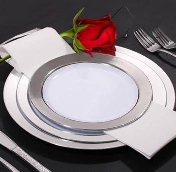 Тарелки пластиковые небьющиеся, плотные  для корпоротивов, event. Полная сервировка стола. CFP 6 шт 260 мм.