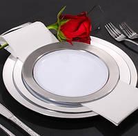 Тарелки пластиковые небьющиеся, плотные  для корпоротивов, event. Полная сервировка стола. CFP 6 шт 260 мм., фото 1