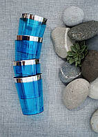 Набір склянок  6 шт 220 мл Capital For People склоподібних кольорових., фото 1