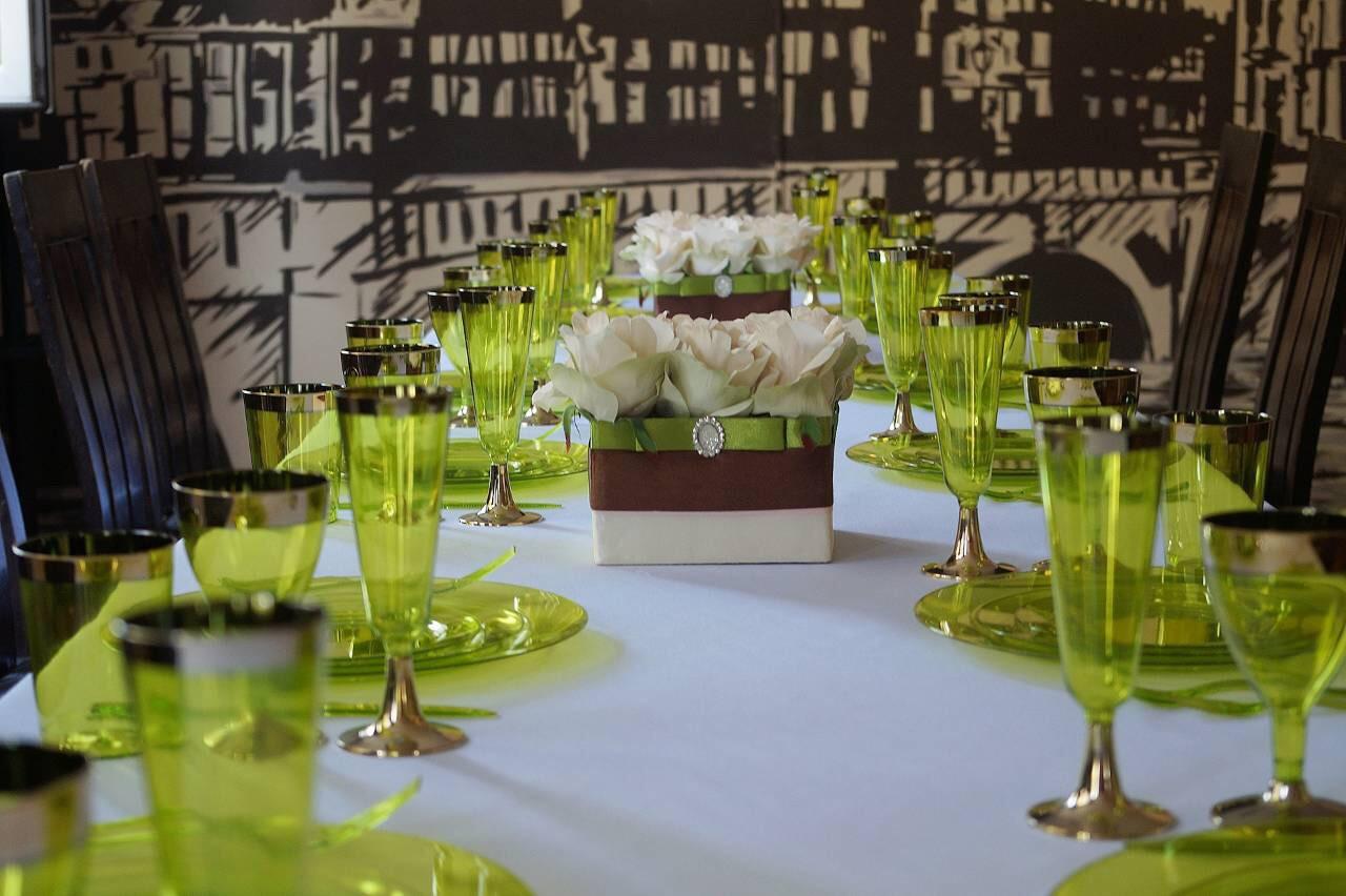 Посуда Capital For People пластиковая, термостойкая для корпоротивов, event. Сервировка стола 84 шт 6 чел