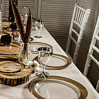 Посуда Capital For People пластиковая, плотная для event, корпоротивов. Полная сервировка стола 102 шт 6 чел
