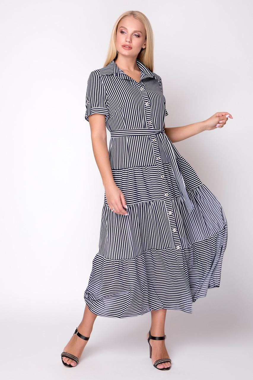Платье Молли 48-56 темно синий