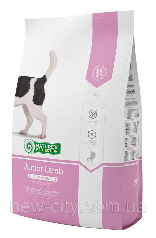 Корм Nature's Protection (Натур Протекшн) Junior Lamb для щенков всех пород с ягненком, 7.5 кг