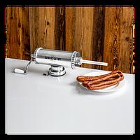311009 Шприц колбасный Biowin ГОРИЗОНТАЛЬНЫЙ на 1,5 кг+ силиконовый поршень, фото 1