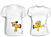 Парные футболки Кот Пёс