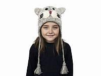 Шапка для мальчика зима Кот