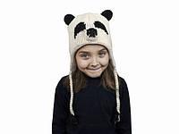 Зимняя шапка с завязками для мальчика Панда