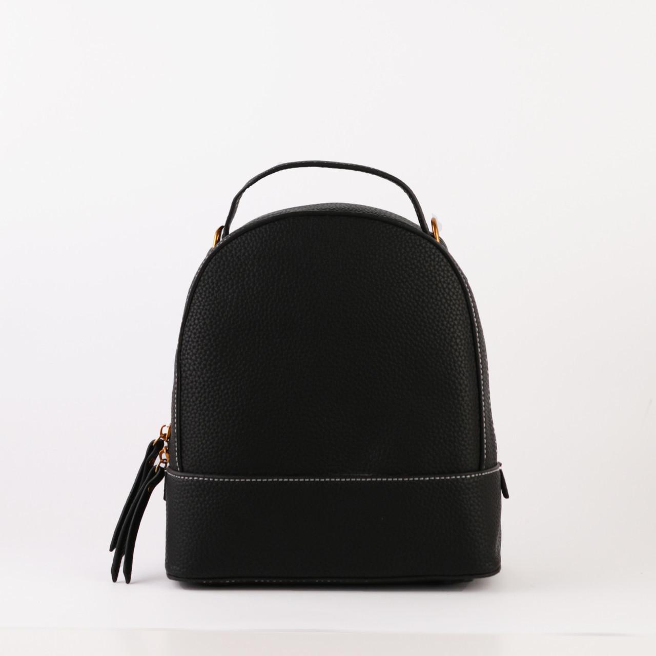c5804579a442 Сумка-рюкзак женский кожаный маленький черный