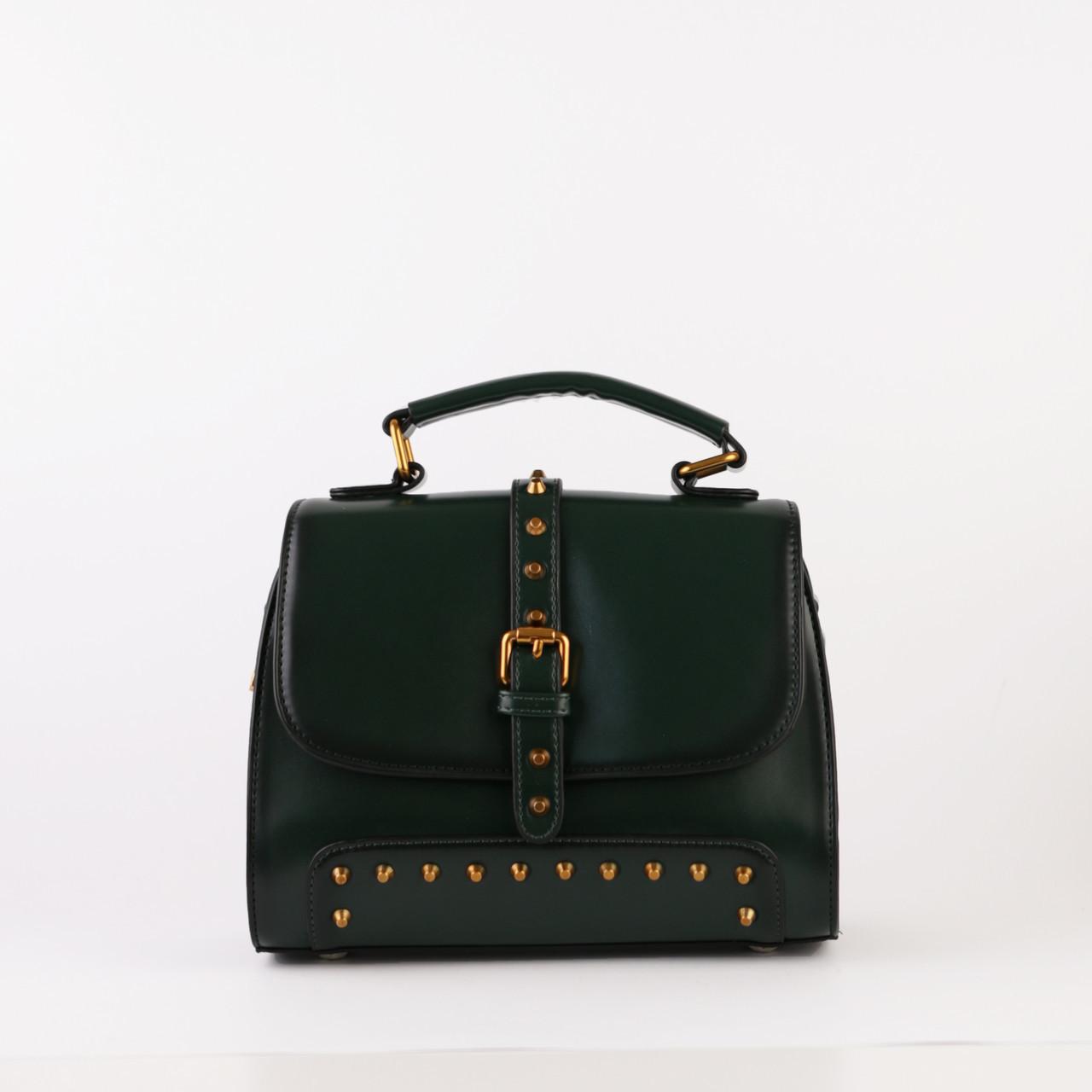 5cff4cfc7a3c Женская маленькая сумочка кожаная объемная зеленая купить по ...