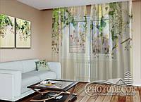 """ФотоТюль """"3D Ламбрекены из орхидей и цветов"""" (2,5м*3,75м, на длину карниза 2,5м)"""