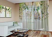 """ФотоТюль """"3D Ламбрекены из орхидей и цветов 1"""" (2,5м*4,5м, на длину карниза 3,0м)"""