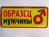 """Табличка для офиса """"образец мужчины"""""""