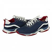 Демисезонные спортивные кроссовки для мужчин из кожи и текстиля