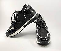 Спортивные кроссовки черные для девушек