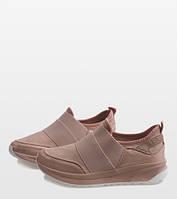 Женские кроссовки розовые без шнуровки