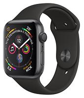 Apple Watch Series 4 GPS 44mm Gray Aluminium with Black Sport Band (MU6D2)