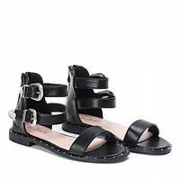 Женские сандалии черного цвета с закрытой пяткой