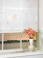 Ролеты тканевые на окна, жалюзи, рулонная штора Аниара 4040 белый, 40*160 см