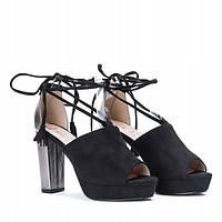 Женские босоножки на шнуровке