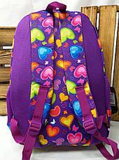 Школьный прочный рюкзак для девочек из плотного непромокаемого материала, на 3 отдела, фото 3