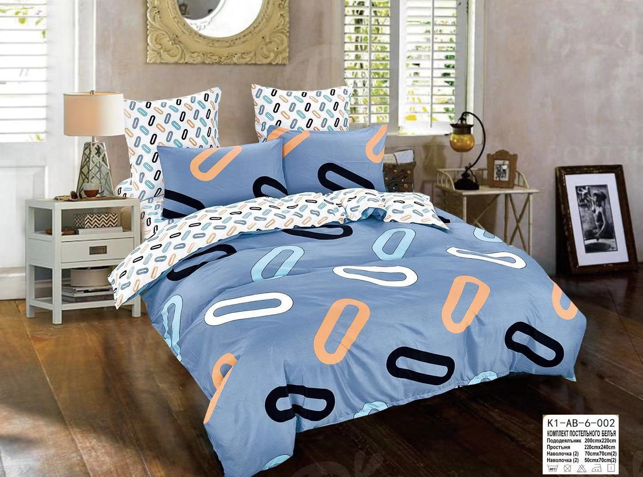 """Комплект постельного белья. Размер """"Евро"""", с 4-мя наволочками"""