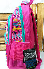 Школьный прочный рюкзак для девочек из плотного непромокаемого материала, на 4 отдела, фото 2