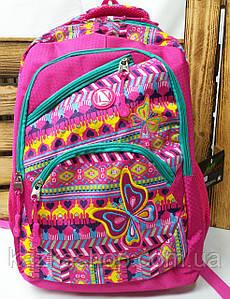Школьный прочный рюкзак для девочек из плотного непромокаемого материала, на 4 отдела