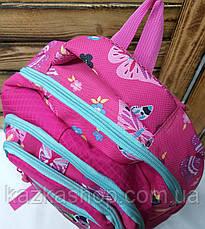 Школьный прочный рюкзак для девочек из плотного непромокаемого материала, на 4 отдела, фото 3