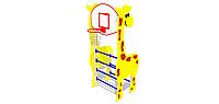 """Детская шведская стенка с баскетбольным кольцом """"Жираф"""""""