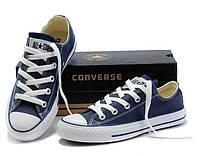 Мужские кеды в стиле Converse All Star Blue, синие 43 (27,5 см)