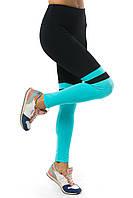 Лосины-леггинсы эластик - матовый бифлекс, гимнастические для занятий спортом