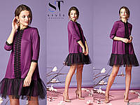Женское стильное платье №7052 (р.42-52) в расцветках, фото 1