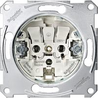 Механизм розетки без заземления 16А Shneider Merten