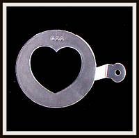 Трафарет маленький диаметр 7,4 см Сердечко, фото 1