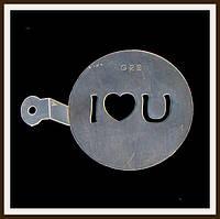 Трафарет маленький диаметр 7,4 см I love U