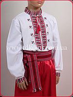 """Рубашка-вышиванка для мальчика """"Полуботок красный"""", фото 1"""