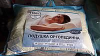 Подушка ортопедическая Лелека 50х70см, наполнитель - холлофайбер, фото 1